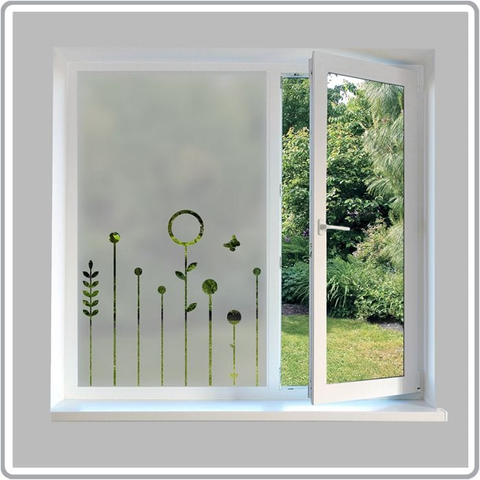 Contemporary frosted window film modern frosted glass for Window designs uk
