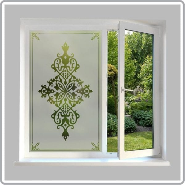 victorian etched glass effect film traditional glass film