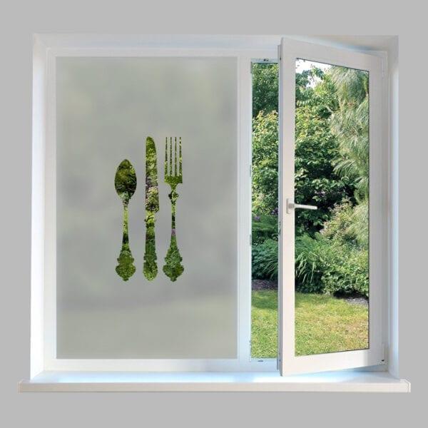 Contemporary Kitchen Window Film - DC80