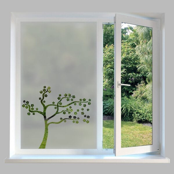 Contemporary Window Film Blossom Tree