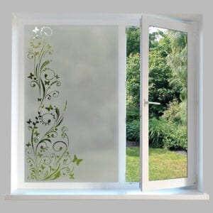 Contemporary Window Film Butterfly Swirl