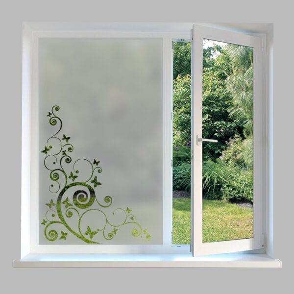 Contemporary Window Film Butterfly Swirl - DC36