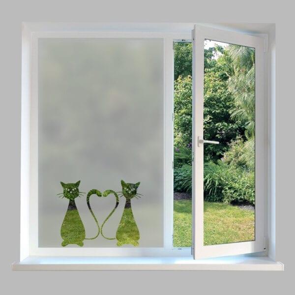 Contemporary Window Film Cats - DC39
