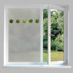 Contemporary Window Film Circles