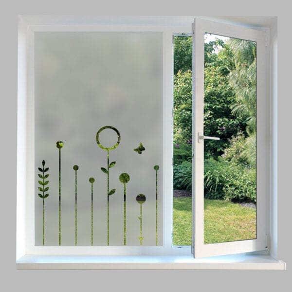 Contemporary Window Film Cut Out