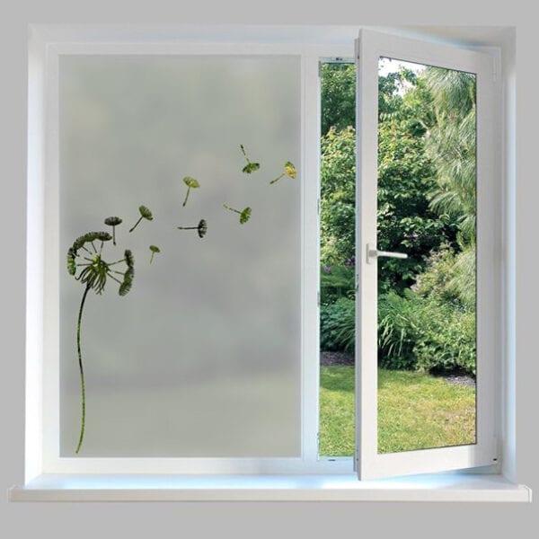 Contemporary Window Film Dandelion