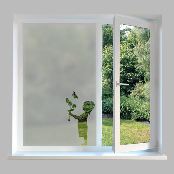 Contemporary Window Film Flower Girl - DC43
