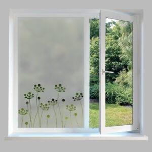Contemporary Window Film Flower Stems