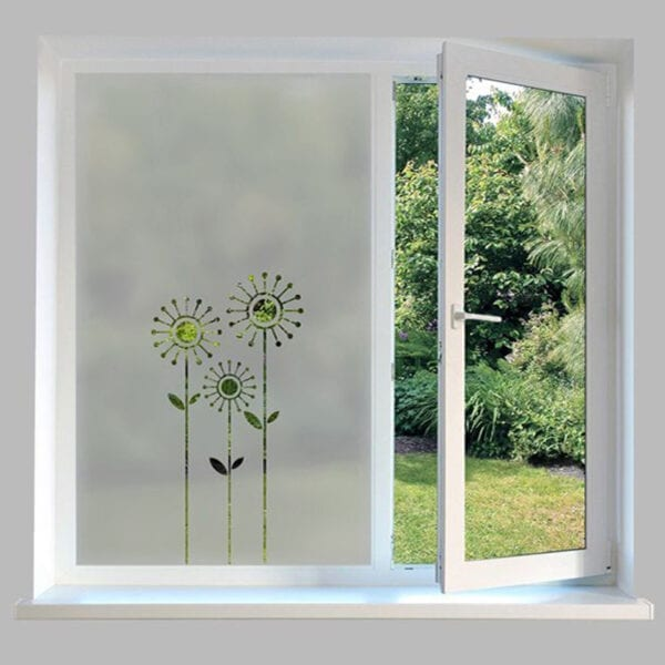 Contemporary Window Film Flowers