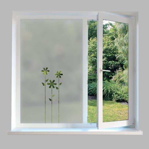 Contemporary Window Film Flowers - DC47