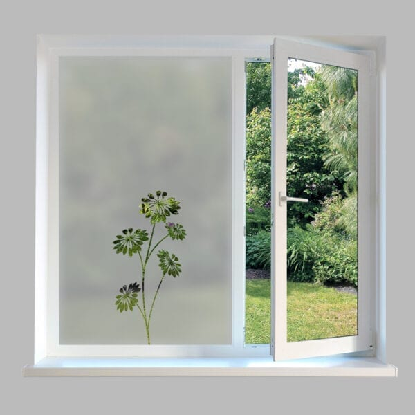 Contemporary Window Film Flowers - DC49