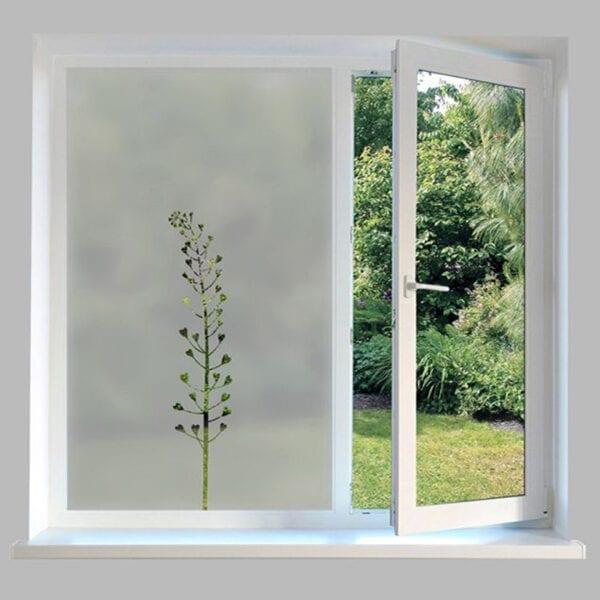 Contemporary Window Film Heart Stem