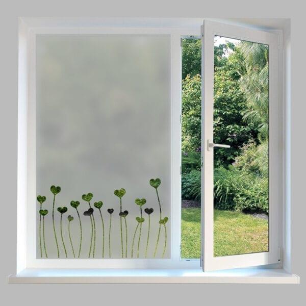 Contemporary Window Film Heart Stems
