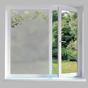 Contemporary Window Film Leaf Swirl