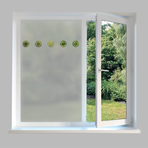 Contemporary Window Film Repeat Circles - DC7M