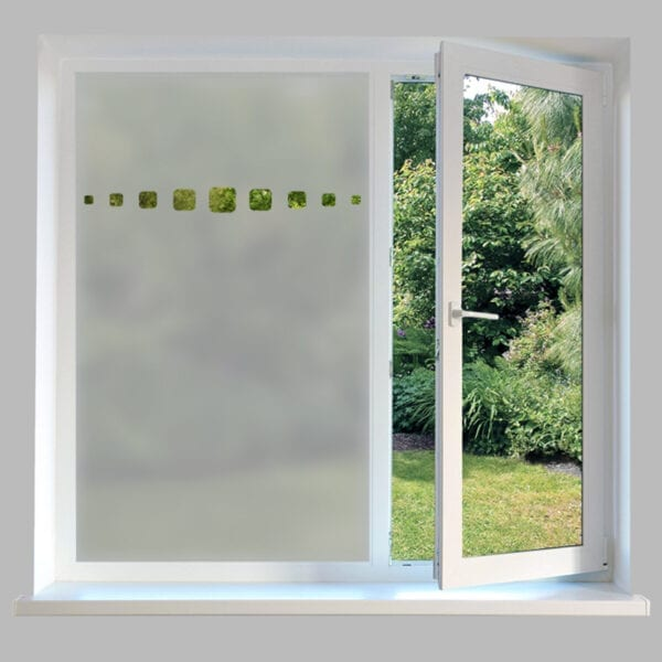 Contemporary Window Film Rounded Squares