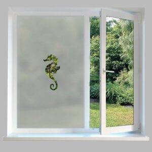 Contemporary Window Film Seahorse