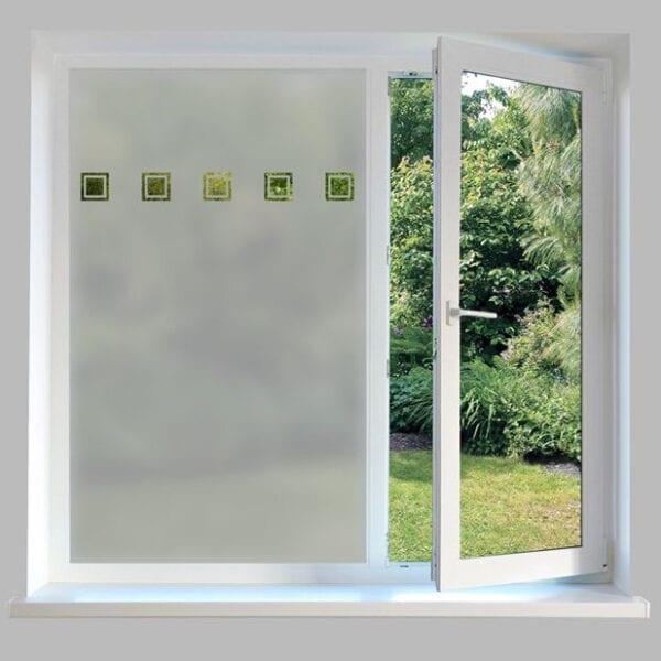 Contemporary Window Film Square Outlines