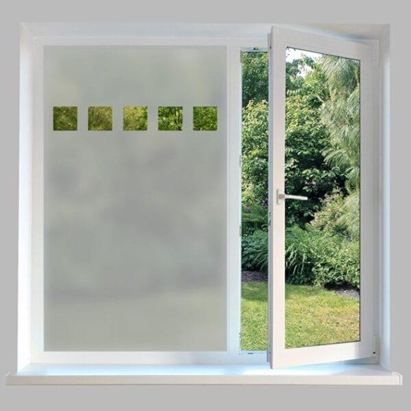Contemporary Window Film Squares
