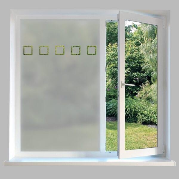 Contemporary Window Film Squares Outline