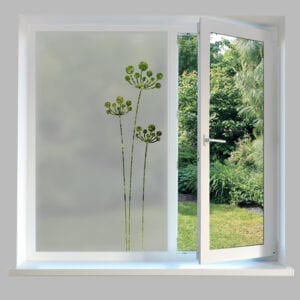 Contemporary Window Film Stem Flower