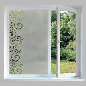 Contemporary Window Film Swirl