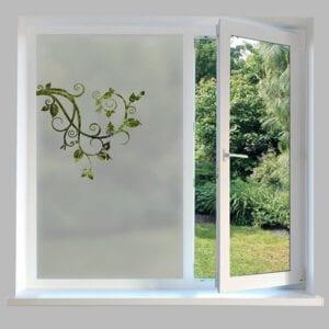 Contemporary Window Film Swirl Branch