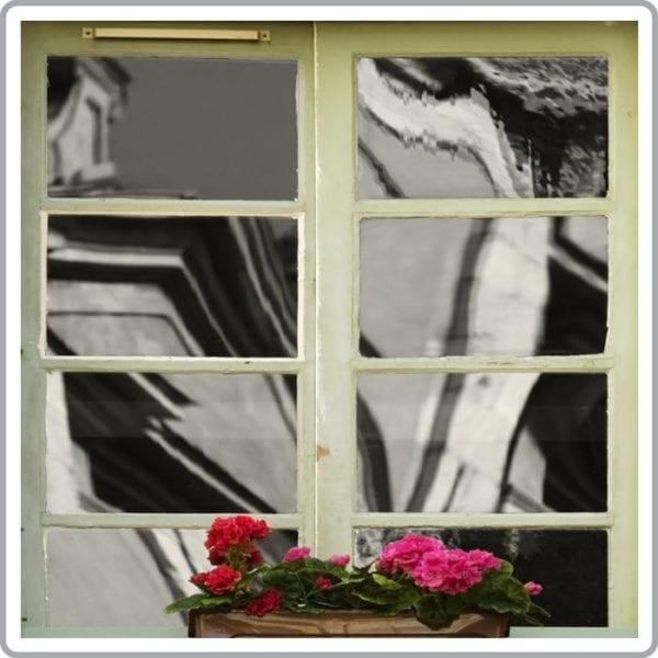 Grey reflective mirror window film