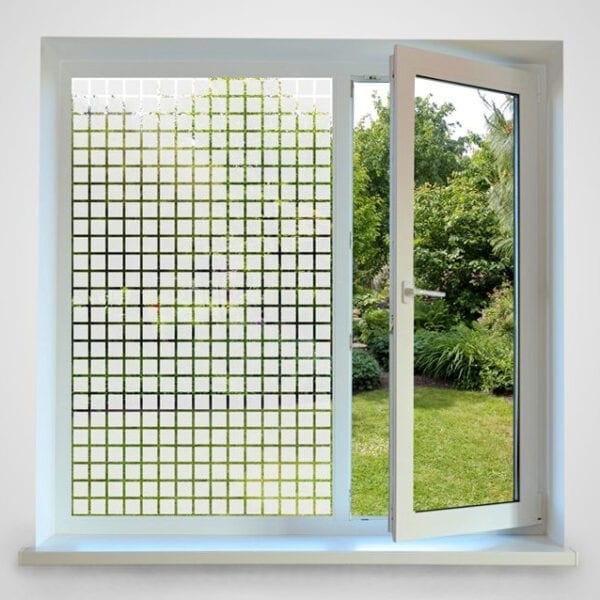 Frosted Squares Patterned Window Film