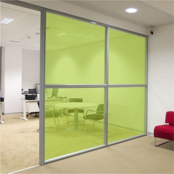bright green coloured window film