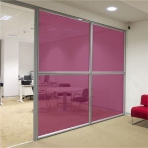 Deep Red Coloured Window Film