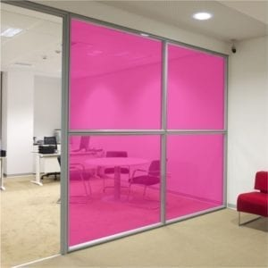 Fuchsia coloured window film