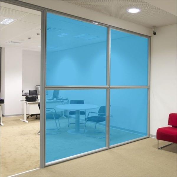 mid blue coloured window film