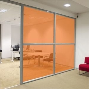 Orange Coloured Window Film