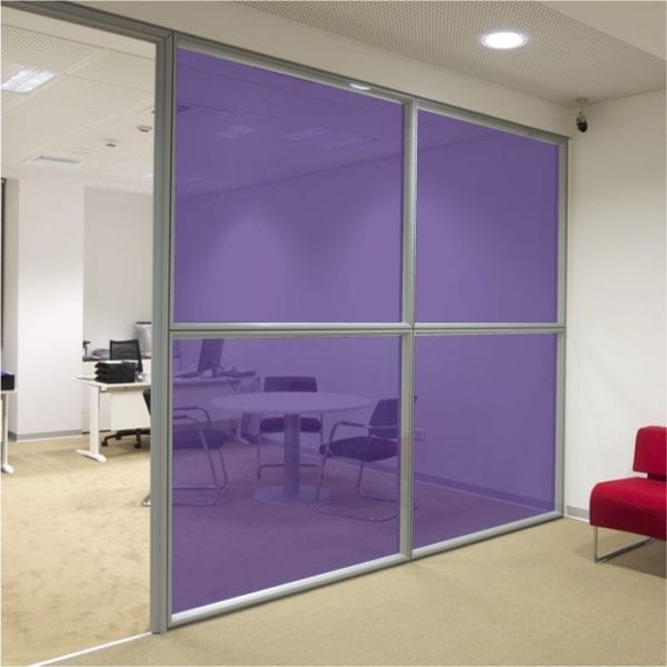 purple coloured window film