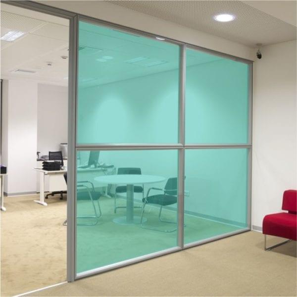 turquoise coloured window film