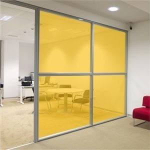 Mid yellow coloured window film