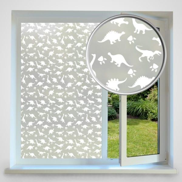 Dinosaur privacy window film