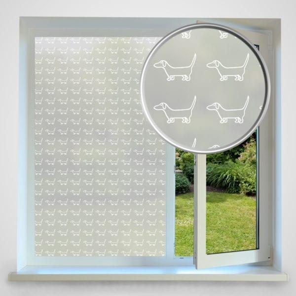Dog privacy window film