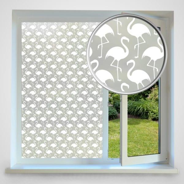 Flamingo privacy window film