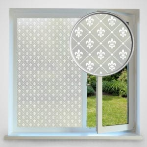 Fleur de Lis privacy window film