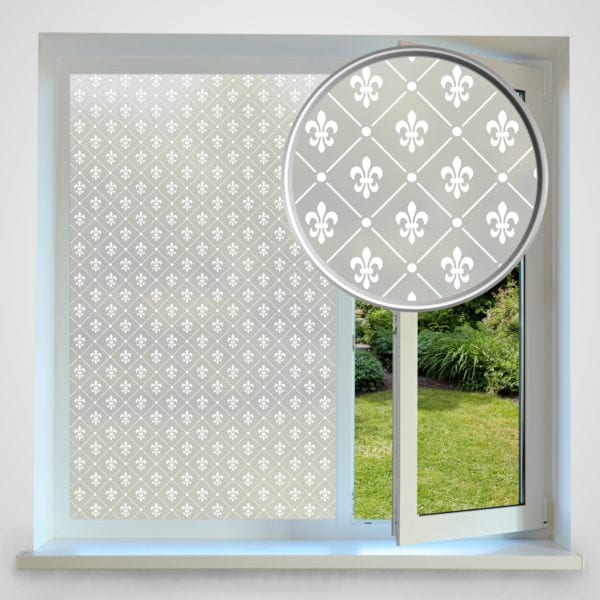 Fleur de Lis privacy window film
