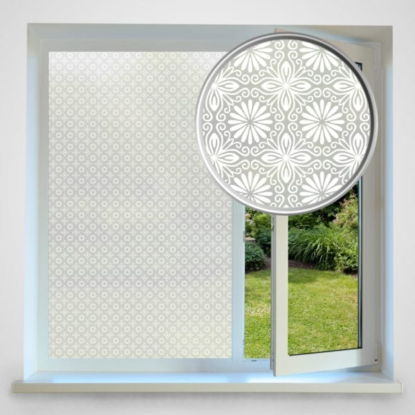 floral privacy window film