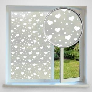 love heart privacy window film