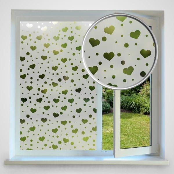 Love Heart Privacy Window Film