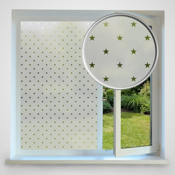 Star Privacy Frosted Window Film