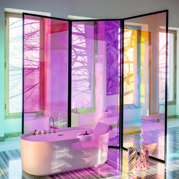 Dichroic Colour Changing Rainbow Chameleon Coloured Window Film 2