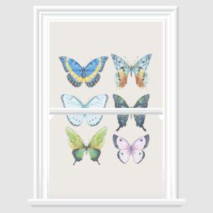 Watercolor Butterfly decorative window film