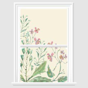 Colorful Floral Decorative Window Film